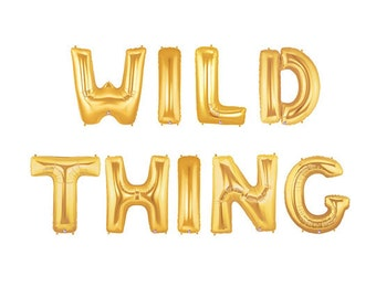 Wild Thing Letter Balloons, Wild One Balloons, Gold Letter Balloons, Metallic Letter Balloons, Custom Party Balloons, Monster Birthday Party