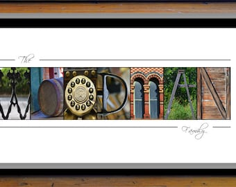Personalized Alphabet Photography, Wedding Gift, Anniversary Gift, Gift For The Couple,  Last Name Print, Couple Gift Ideas