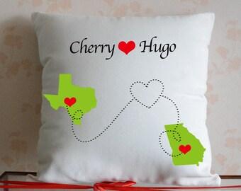 housewarming gift wedding gift personalized pillow map pillow custom gift gift