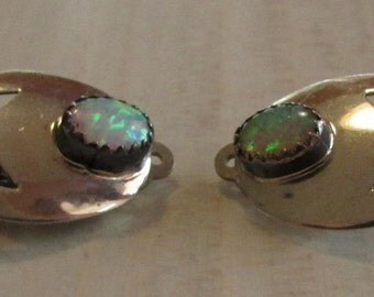 Sterling Silver Lab Created Clip On Earrings