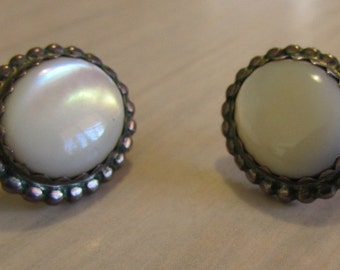 Sterling Silver and Mother of Pearl Post Earrings