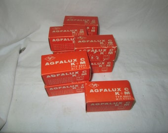 Vintage German Camera Flash Attachments Lot of 9 in original boxes Agfalux C K+M