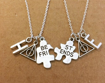 Two Harry Potter best friend charm necklaces