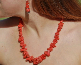 authentic certified full-bodied red coral necklace