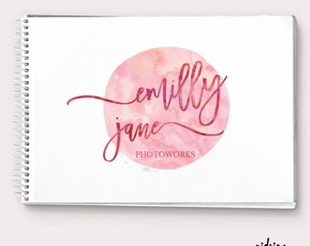 Premade Logo  Watercolor Logo  Personalizable branding  Calligraphy Logo  Premade Signature Logo  Simple Business Branding