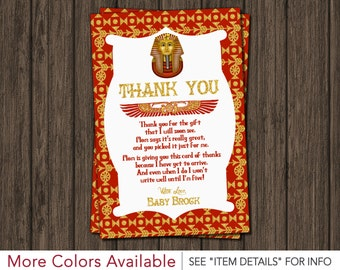 Egyptian Baby Shower Thank You Card
