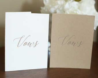 Wedding Vows - Set of 2 - A2 Folded Cards