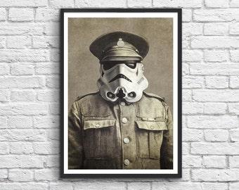 Art-Poster 50 x 70 cm - Storm Trooper Vintage