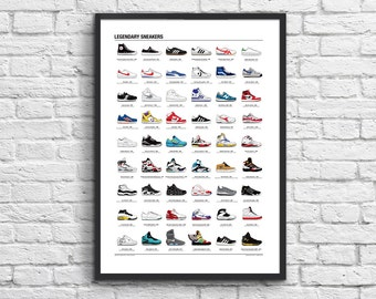 Art-Poster 50 x 70 cm - Legendary Sneakers