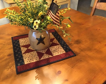 Quilted Table Topper / Patriotic / Americana /  Item #1341