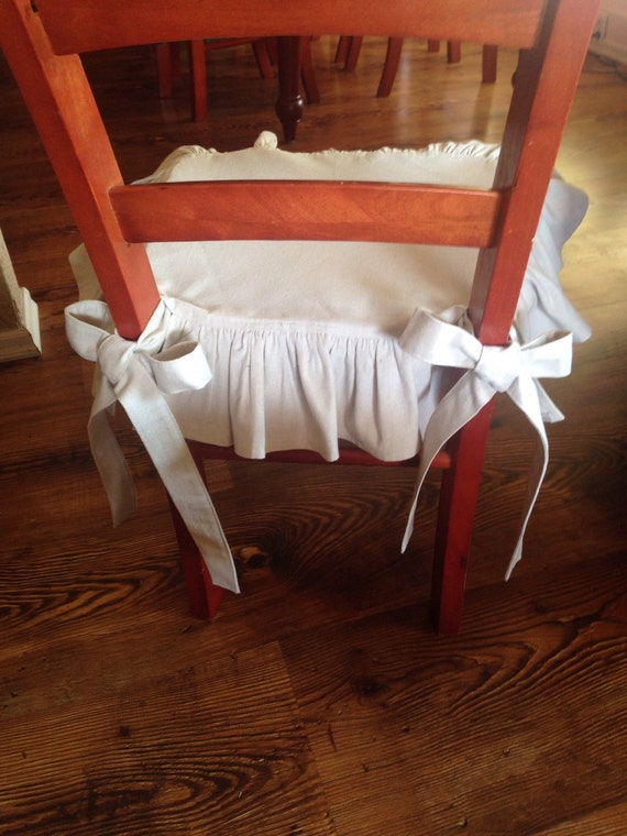 8 Drop Cloth Chair Covers Seat Covers With Back Ruffle