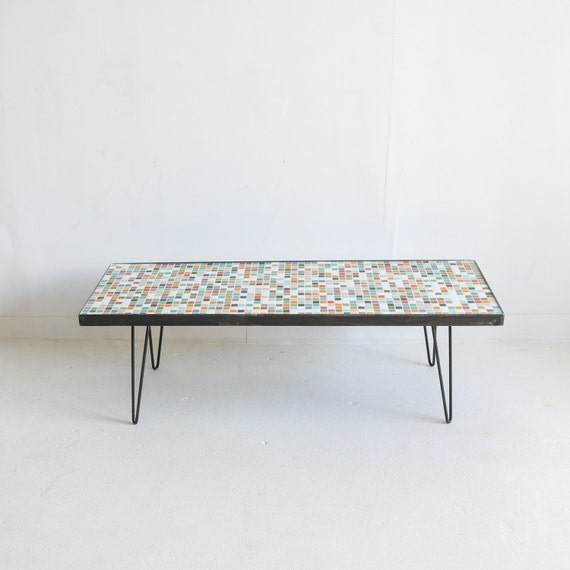 Glass Coffee Tables Etsy: Mosaic Glass Coffee Table By AtomicFurnishing On Etsy