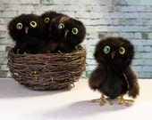 Fur owl - Sonia. Soft toy. Bird. Fur toy. Cute owl. handmade owl. Perfect gift.