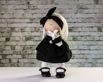 Doll Emily. Tilda doll.  Textile doll. Soft toy. Cute gift. Collection Fairy Doll. Soft toy. Interior doll. Rag doll. Christmas gift