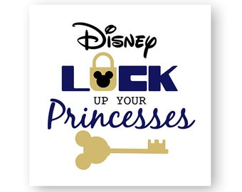 Disney, Lock Up Your Princess, Key, Icon Mickey Mouse, Head, Digital, Download, TShirt, Cut File, SVG, Iron on, Transfer