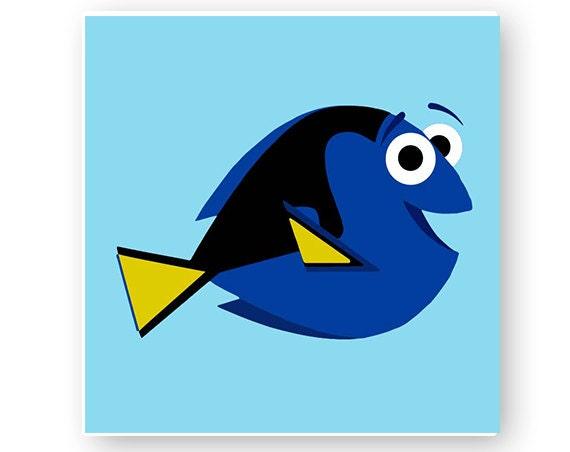 Disney Finding Dory Finding Nemo Fish Illustration Tshirt