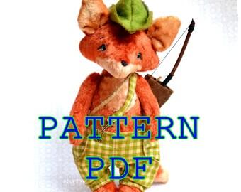 PDF Teddy bear FOX pattern