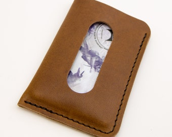The Card Courier - Natural Horween® Essex Front Pocket Card Wallet