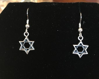 Sterling silver 925 star earrings