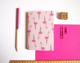 A6 Notebook / Flamingo Notebook / Tropical Stationery / Pocket Notebook / Cute Stationery / Pocket Notebook / Gifts for Her
