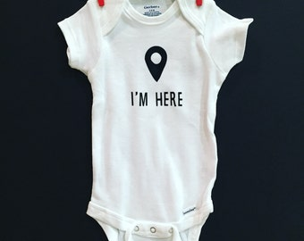 I'm here | google maps baby onesie