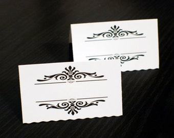 Blank classic border place cards