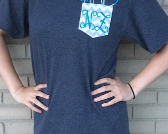 Nurse, Doctor, or Vet Personalized Monogram Pocket Shirt