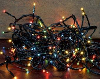 140 teeny tiny bulb christmas light string set multi color 8 multi functions - Christmas Light String