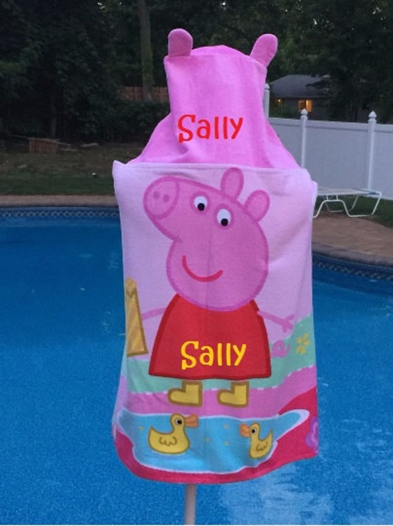 Peppa Pig hooded towel wrap Beach Towel Personalized Beach