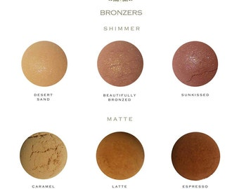 All Natural Mineral Bronzer - Beauty Care - Vegan - Cruelty Free - Gift Idea - Cosmetics - Makeup - Women - Organic - Cheek Stain - Powder