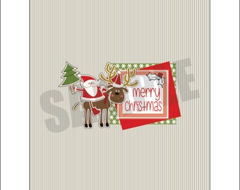 Christmas Santa Candy Bar Wrappers - 2 wrappers with listing