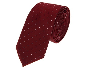 Red Dots Ties. Neckties.Red Wedding Ties.Ties for Men.Wedding Ties.Gift for Him.Formal Necktie