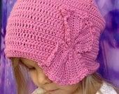 Toddler crochet hat/ Flower crochet hat/ Crochet baby hat/ Cap sock bonnet/ Street style fashion/ Boho flower hat/ Crochet Oversized Slouchy
