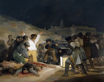 The Third Of May 1808 by Francisco Goya, in various sizes, Giclee Canvas Print