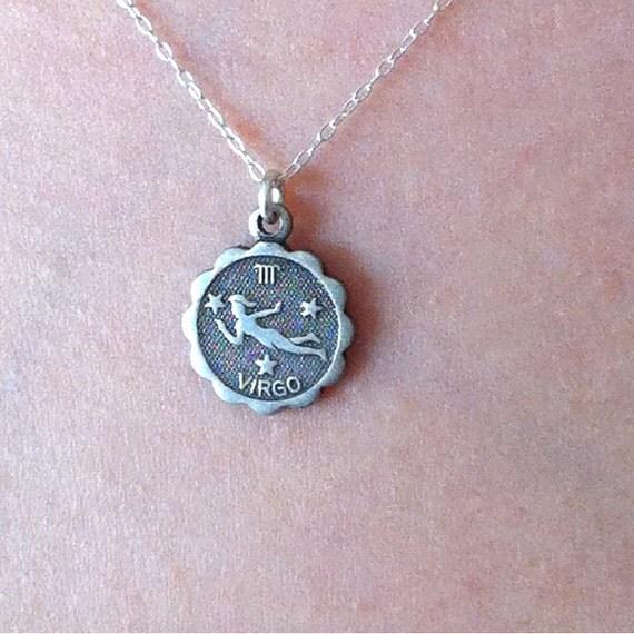 virgo zodiac sign necklace virgo jewelry by