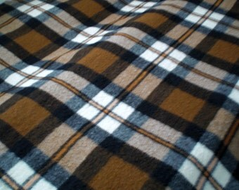 "Vintage ZAALBERG Woollen Plaid Blanket, Made in Leiden, Holland,Pure   New Wool, 71 x 55""inch .1970s Dutch Product."