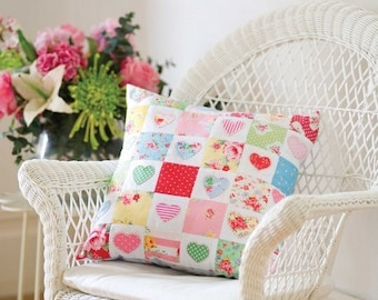 Hearts and Flowers Cushion Sewing Pattern Download 803066