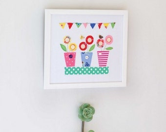 Lollipop Flowers Picture Sewing Pattern Download 803081