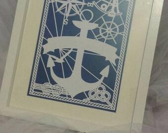 nautical paper cut