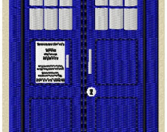 Police Box Embroidery Design (small)
