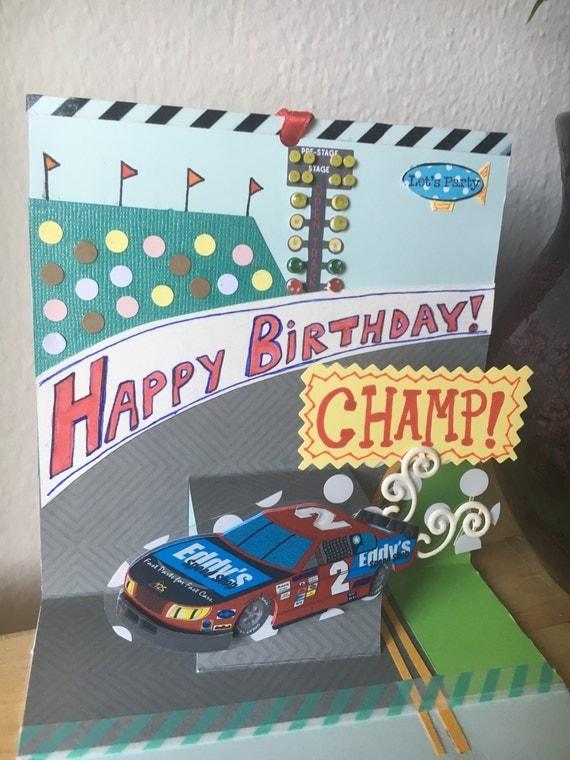 Birthday Card Happy Birthday Race Car Indy Daytona