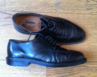Black Leather Vintage Rockabilly Shoes Size 43