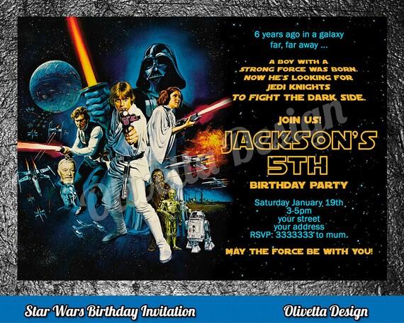 Star wars birthday invitation star wars invitation birthday star il570xn stopboris Images