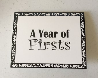 A year of firsts bridal shower card