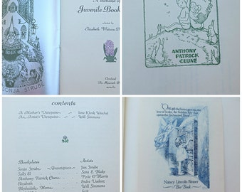 A Second Garland Of Bookplates Vintage Bookplates Children's Bookplates Elizabeth WatsonDiamond 1949 Bookplates Original Engraved Bookplate