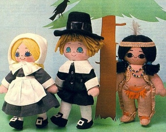 "10"" Pilgrims and Friend"