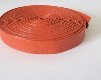 faux leather strap 10mm orange leatherette trimmings orange PU trim