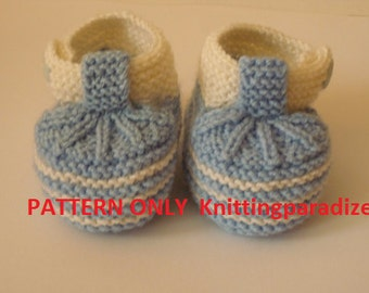 PATTERN ONLY, knit baby boots, knit Baby booties, baby boy shoes , knitted baby shoes, handmade