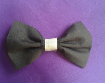 Black And White Simple Classic Lolita Bow Hair Clip