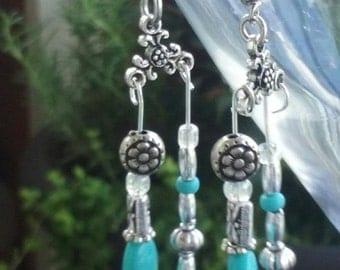 Torquoise colored dangle earring set